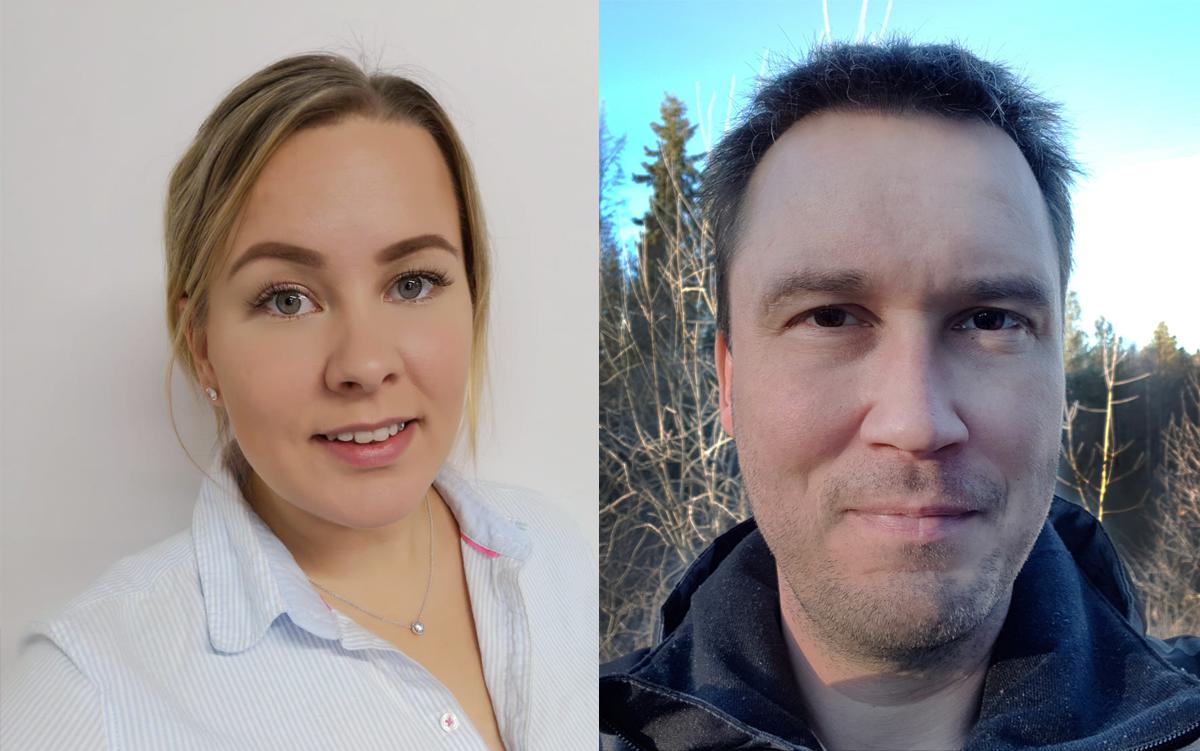 Heli Herrala (vas.) ja Jouko Norkola (oik.)