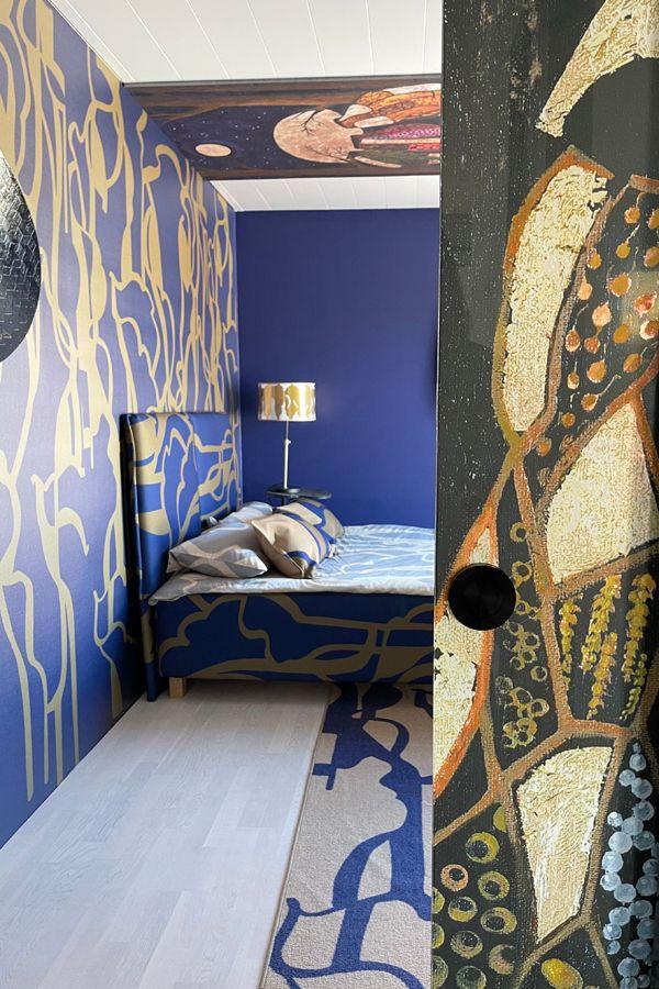 Johanna Oraksen sisustama makuuhuone ProModissa