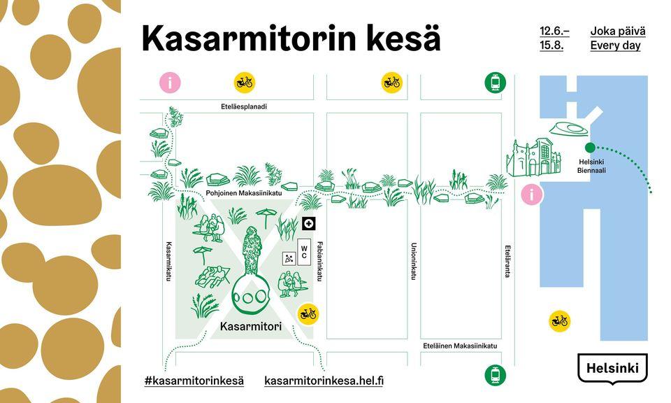 Kasarmitorin kesä on turvallisten kohtaamisten juhlaa – mukana myös  kesäkatukokeilu   Helsingin kaupunki, kaupunginkanslia