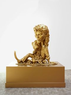 Paul McCarthy: Michael Jackson and Bubbles (Gold), 1997–1999