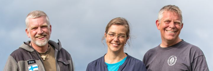 From the left to the right: Explorer Patrick Degerman, Dr Joanna Norkko, Professor Alf Norkko. Photo: Iain Macdonald