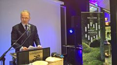 Minister for Agriculture and Forestry, Mr. Jari Leppä, presented on Wednesday evening the proposal of Prime Minister Juha Sipilä to establish an EU-Africa Forest Fund, at the first Forest Academy for EU Decision Makers in Asikkala, Finland. Photo: Jussi Seppälä, Hopiasepät Ltd