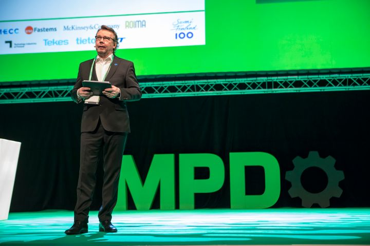 MPD 2019 brings high level influencers once again to Tampere. In the picture Tomas Hedenborg hosting the MPD 2017 event.