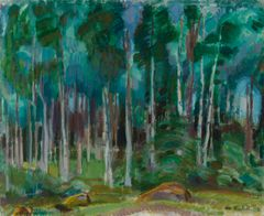 Magnus Enckell: Birches in Vääksy (1919). Finnish National Gallery / Ateneum Art Museum, Sihtola Collection. Photo: Finnish National Gallery / Hannu Pakarinen.
