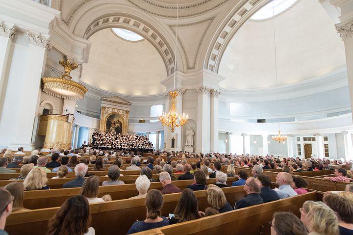 Kirkon musiikkijuhlien konsertteja järjestetään myös kirkoissa. Cantores Minores esiintyy Tuomiokirkossa pe 19.5. klo 20.30. Kuva: Pentti Mansukoski