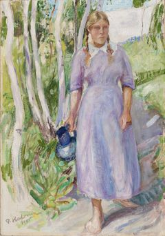 Pekka Halonen: Carrying water (1911). Finnish National Gallery / Ateneum Art Museum. Image: Finnish National Gallery / Hannu Pakarinen.