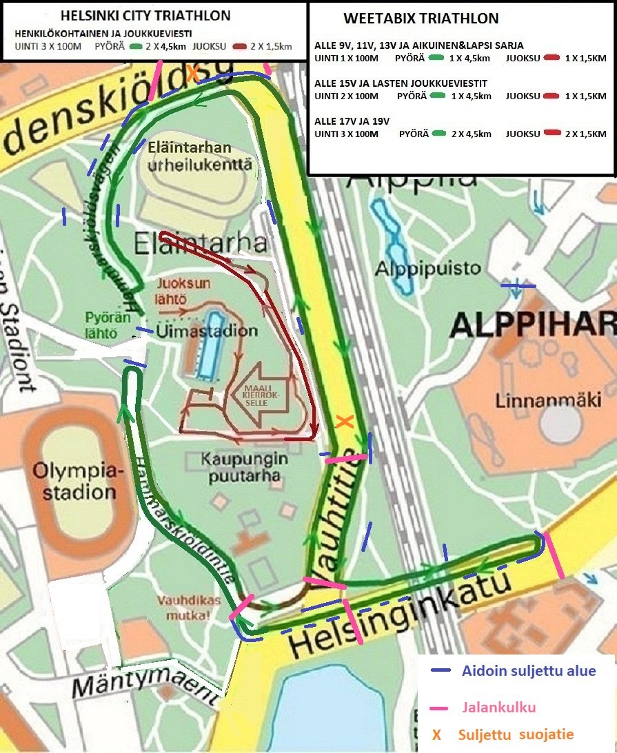 Helsinki City Triathlon Tapahtuma Haittaa Liikennetta Helsingin