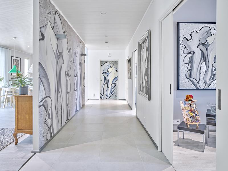 Taide on tuotu uusilla tavoilla esille 2019 Kouvolan asuntomessukohteessa