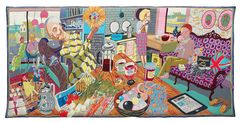 Grayson Perry: The Annunciation of the Virgin Deal, 2012. Wool, cotton, acrylic, polyester and silk tapestry. 200 x 400 cm