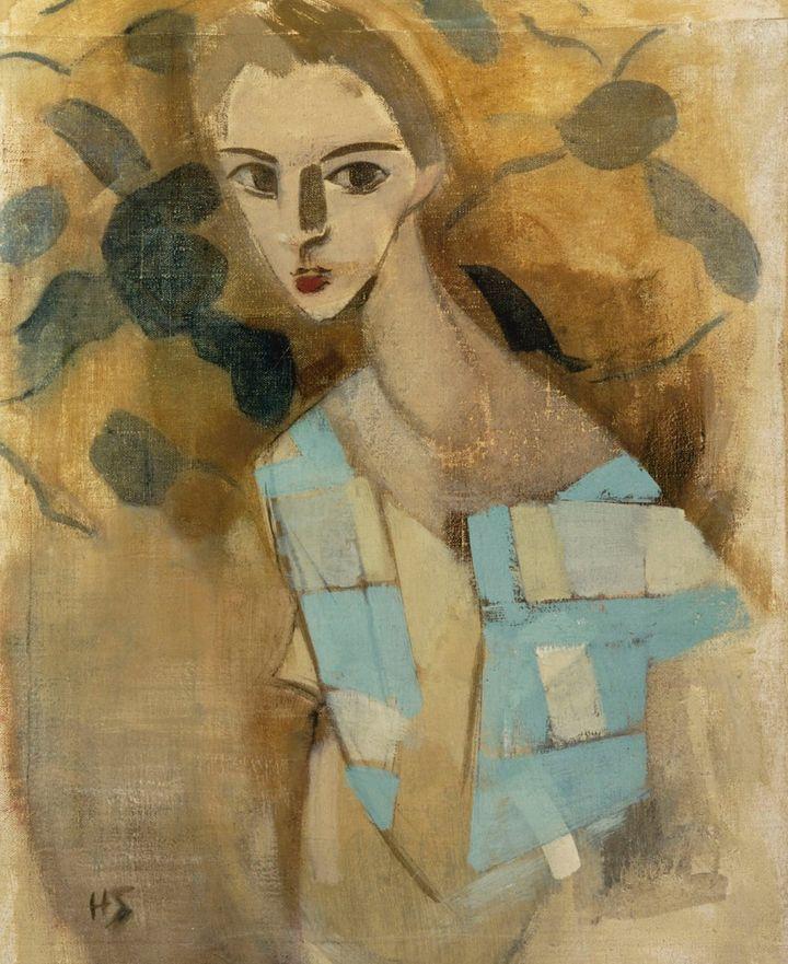 Helene Schjerfbeck, Eydtkuhnenin tyttö II (1927) Kuva: Kansallisgalleria Hannu Aaltonen