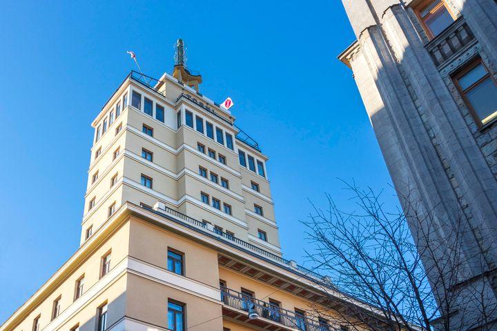 Solo Sokos Hotel Torni Helsinki. Pilvenpiirtäjähotelli vuodelta 1931.
