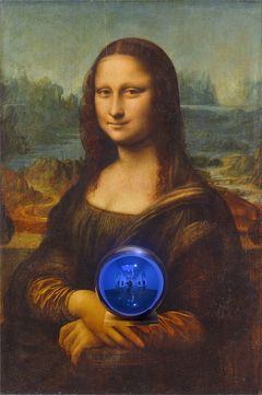 Jeff Koons: Gazing Ball (da Vinci Mona Lisa) (2015). The Broad Art Foundation, Los Angeles. Photo: The Broad Art Foundation, Los Angeles.