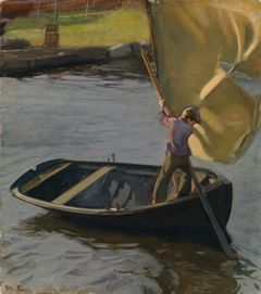 Magnus Enckell: Boy and Sail (1902). Finnish National Gallery / Ateneum Art Museum, Keirkner Collection. Photo: Finnish National Gallery / Hannu Pakarinen.