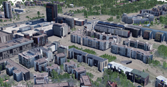 City centre Leppävaara in the 3D city model.