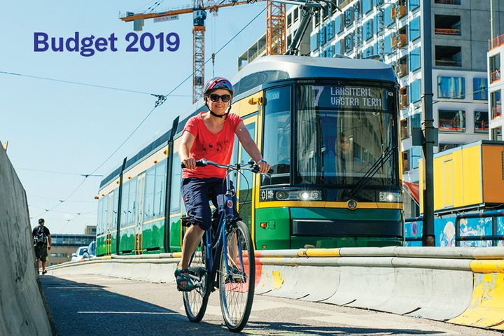 City of Helsinki, budget proposal 2019. Photo: Lauri Rotko