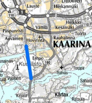 Kurkela-Kuusisto uusi tieyhteys kartalla