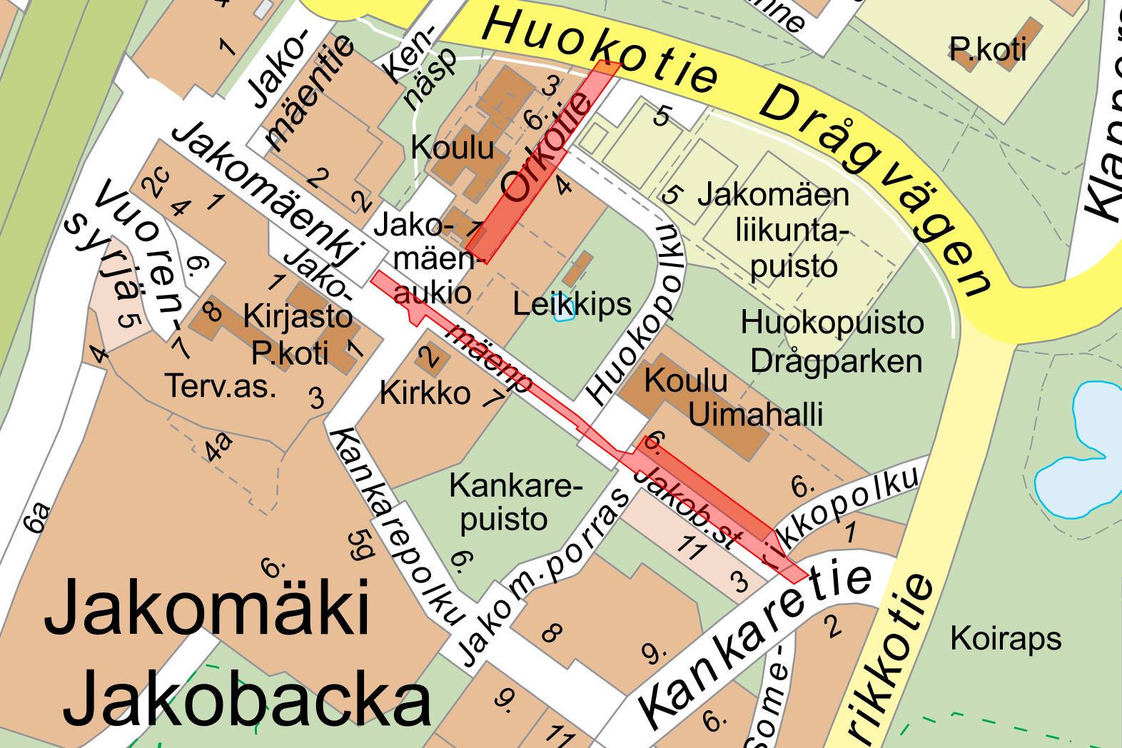 Katutyomaa Haittaa Liikennetta Jakomaen Keskustassa Helsingin