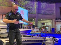 Last year's electric outboard motors sales growth came largely from remote-controlled trolling motors used in fishing boats, of which more than 1100 were sold in 2019. This reflects the rapid increase in the popularity of recreational fishing, which is also reflected in the new offerings in the fishing section of the Helsinki International Boat Show. Angler Kristian Keskitalo presenting in the Uusi Aalto Waterexpo area.