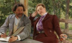 Ilya Repin: Double Portrait of Natalia Nordmann and Ilya Repin (1903). Finnish National Gallery / Ateneum Art Museum. Photo: Finnish National Gallery / Jenni Nurminen.