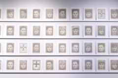 To create his art piece, Harri Pälviranta scanned all the main characters in the book Vapautemme hinta ('The price of our freedom'), which lists the names of soldiers who perished in the Winter War, and turned their photographs into ghostlike portraits, each of which consists of hundreds of layers of pictures. Photo: Yehia Eweis.