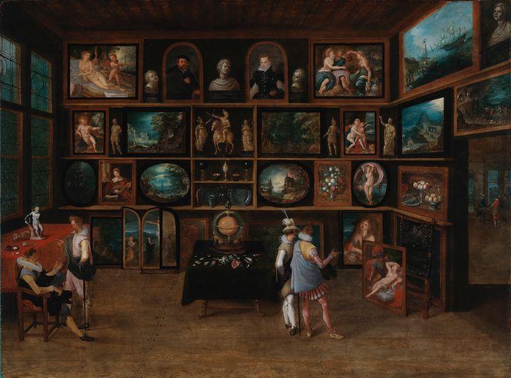 Hieronymus Francken II (1578−1623): Taiteenystäviä galleriassa. Kokoelma: O.W. Klinckowström. Sinebrychoffin taidemuseo. Kuva: Kansallisgalleria, Yehia Eweis