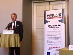 Minister for Foreign Affairs Pekka Haavisto gave a keynote speech at the Reporters Without Borders seminar on 29.8. just before the Gymnich meeting. Photo: Janina Granholm, Reporters Without Borders of Finland