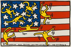 Keith Haring: American Music Festival - New York City Ballet, copyright Keith Haring Foundation