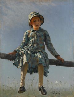 Ilya Repin: Dragonfly (Portrait of the Artist's Daughter Vera Repina) (1884). The State Tretyakov Gallery. © The State Tretyakov Gallery, Moscow