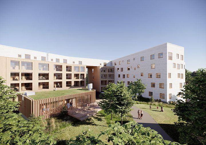 Tapiolan Tuuliniittyyn rakennetaan puukerrostalo, jossa on 44 asumisoikeusasuntoa ja pihasauna.
