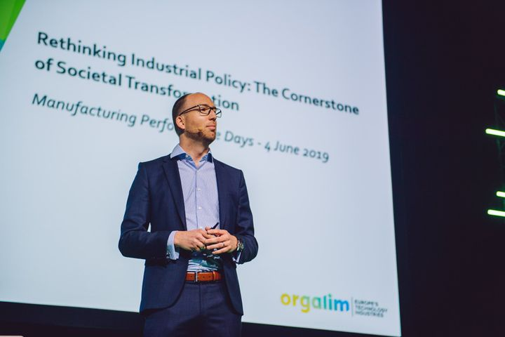 Malte Lohan, the Director General of Orgalim, calls for a united Europe in the global struggle for technology supremacy. Photo: Akifoto, DIMECC Ltd
